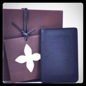 Louis Vuitton epi card holder organizer wallet